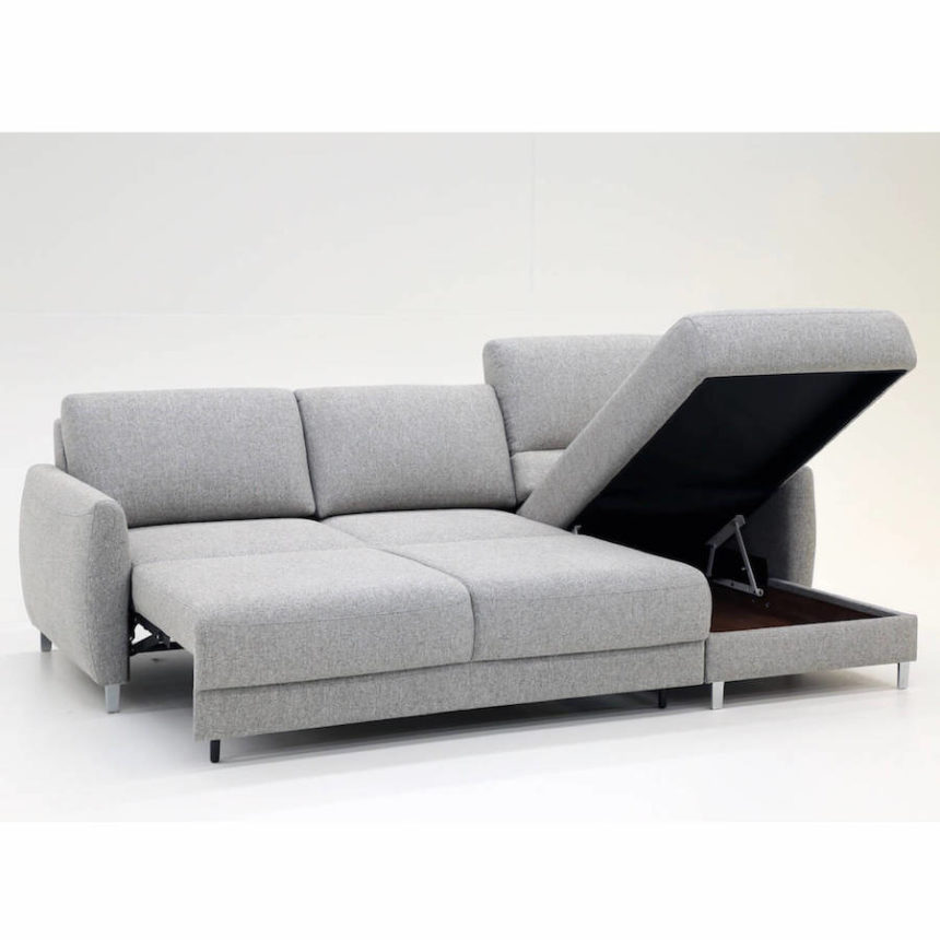 Delta Sectional Sleeper Sofa Luonto Open Chaise Bed | Industrial Revolution Furniture