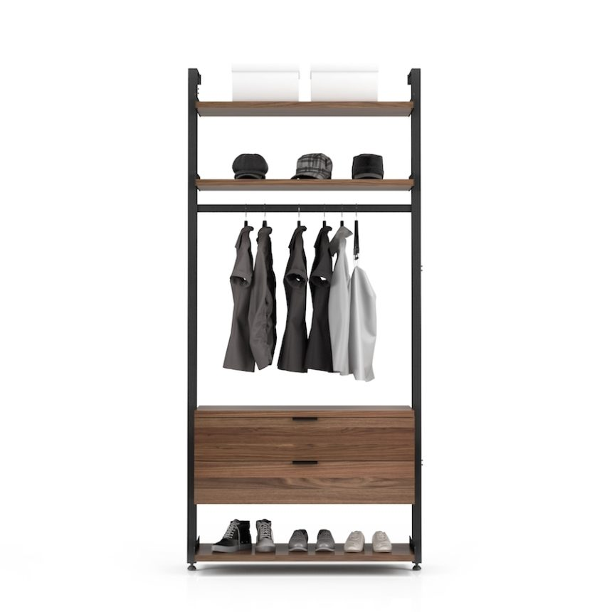 Gravity Closet System Configuration 2 | Industrial Revolution Vancouver