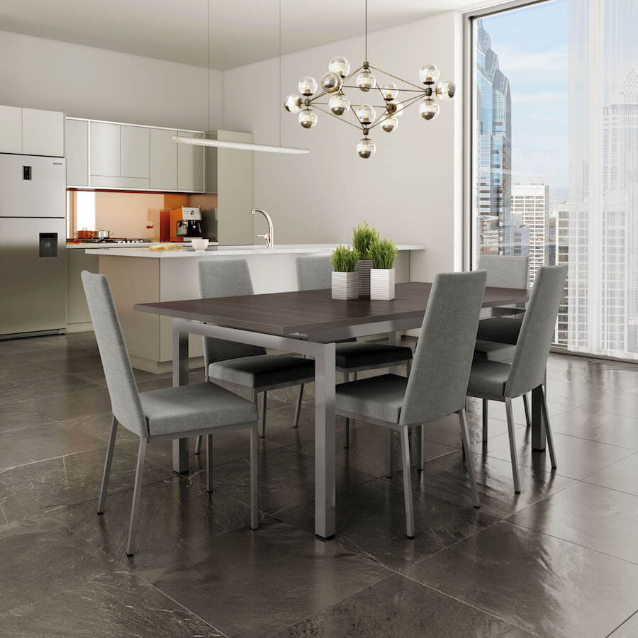 Linea High Back Metal Dining Chair - Lifestyle