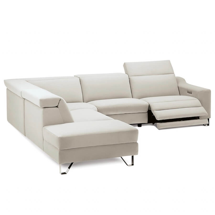 M1 Power Recliner Leather Sectional Sofa | Industrial Revolution Modern Furniture
