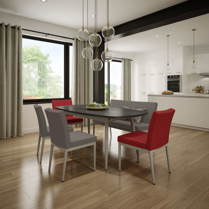 Melrose Cushioned Metal Dining Chair - Lifestyle
