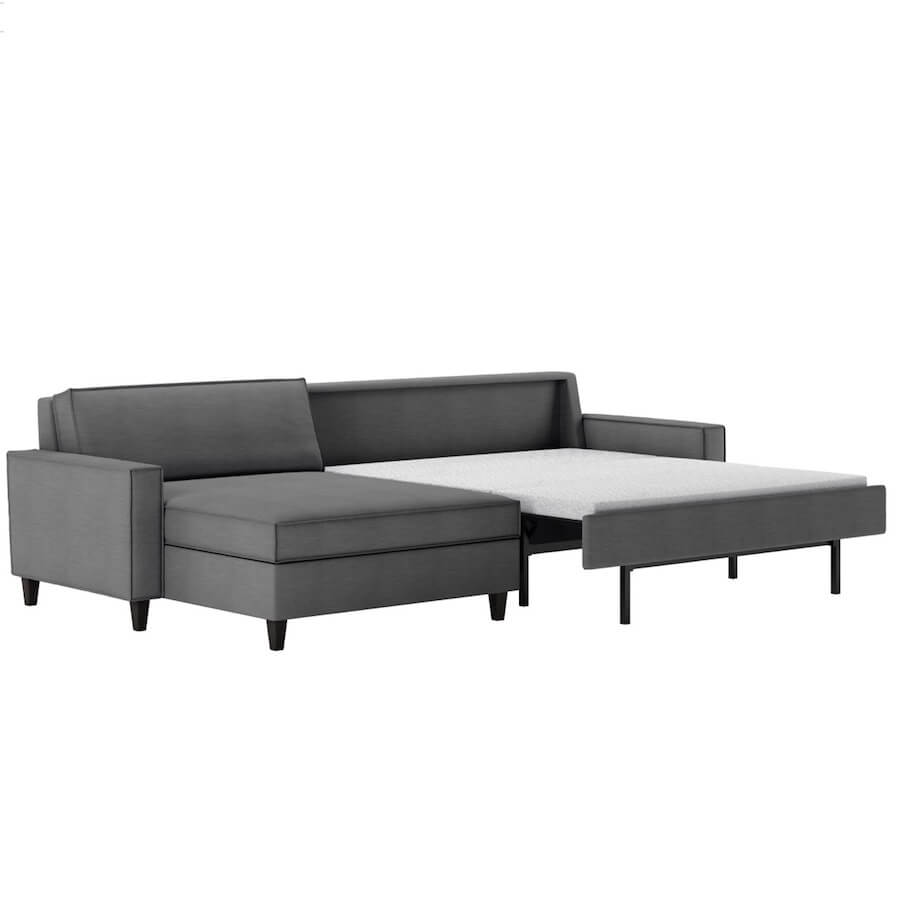 Mitchell Comfort Sleeper Sofa Bed Sectional - American Leather