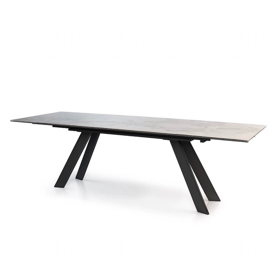 Oliver Porcelain Extension Dining Table | Industrial Revolution Modern Furniture
