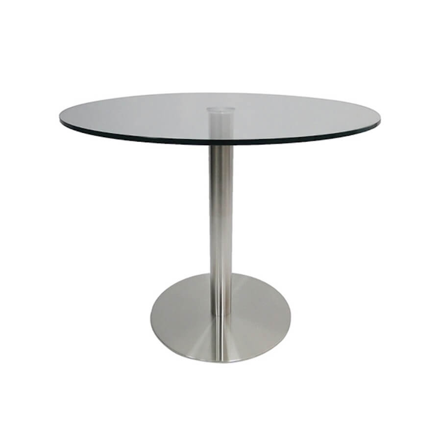 Radius Glass Bistro Table | Glass Table Vancouver | Industrial Revolution